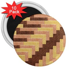 Fabric Textile Tiered Fashion 3  Magnets (10 pack)