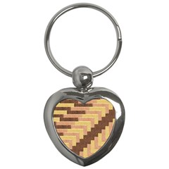 Fabric Textile Tiered Fashion Key Chains (heart)