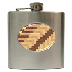 Fabric Textile Tiered Fashion Hip Flask (6 oz)