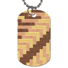 Fabric Textile Tiered Fashion Dog Tag (two Sides)