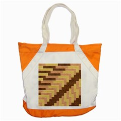 Fabric Textile Tiered Fashion Accent Tote Bag