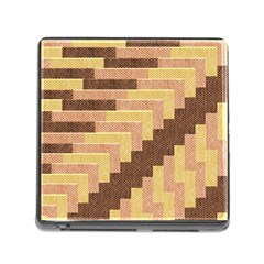 Fabric Textile Tiered Fashion Memory Card Reader (Square)