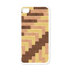 Fabric Textile Tiered Fashion Apple Iphone 4 Case (white)