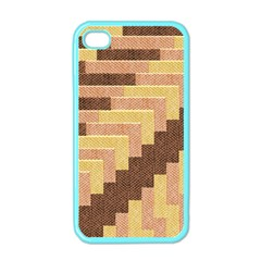 Fabric Textile Tiered Fashion Apple iPhone 4 Case (Color)