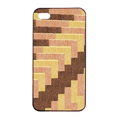 Fabric Textile Tiered Fashion Apple iPhone 4/4s Seamless Case (Black)