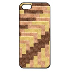 Fabric Textile Tiered Fashion Apple iPhone 5 Seamless Case (Black)