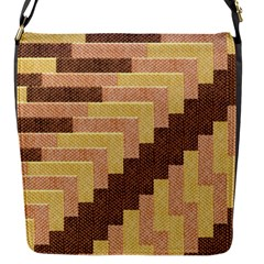 Fabric Textile Tiered Fashion Flap Messenger Bag (s)
