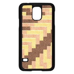 Fabric Textile Tiered Fashion Samsung Galaxy S5 Case (Black)