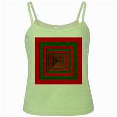 Fabric Texture 3d Geometric Vortex Green Spaghetti Tank