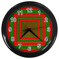 Fabric Texture 3d Geometric Vortex Wall Clocks (Black)