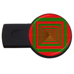 Fabric Texture 3d Geometric Vortex USB Flash Drive Round (2 GB)