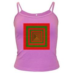 Fabric Texture 3d Geometric Vortex Dark Spaghetti Tank