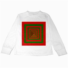 Fabric Texture 3d Geometric Vortex Kids Long Sleeve T-Shirts