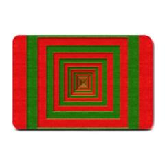 Fabric Texture 3d Geometric Vortex Small Doormat
