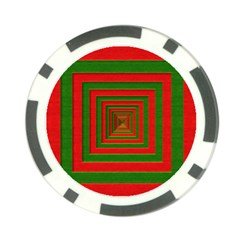 Fabric Texture 3d Geometric Vortex Poker Chip Card Guard