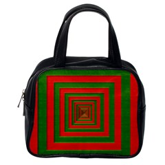 Fabric Texture 3d Geometric Vortex Classic Handbags (One Side)
