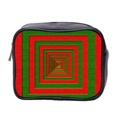 Fabric Texture 3d Geometric Vortex Mini Toiletries Bag 2-Side