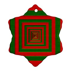 Fabric Texture 3d Geometric Vortex Snowflake Ornament (Two Sides)