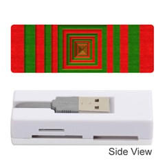 Fabric Texture 3d Geometric Vortex Memory Card Reader (Stick)