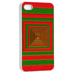 Fabric Texture 3d Geometric Vortex Apple iPhone 4/4s Seamless Case (White)