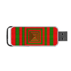 Fabric Texture 3d Geometric Vortex Portable Usb Flash (two Sides)