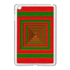 Fabric Texture 3d Geometric Vortex Apple Ipad Mini Case (white)