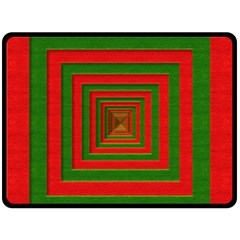 Fabric Texture 3d Geometric Vortex Double Sided Fleece Blanket (large)