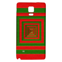 Fabric Texture 3d Geometric Vortex Galaxy Note 4 Back Case