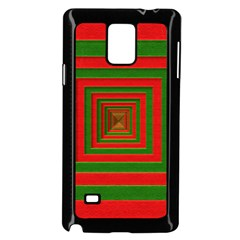 Fabric Texture 3d Geometric Vortex Samsung Galaxy Note 4 Case (Black)