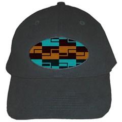 Fabric Textile Texture Gold Aqua Black Cap