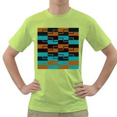 Fabric Textile Texture Gold Aqua Green T-Shirt