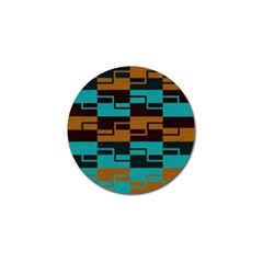 Fabric Textile Texture Gold Aqua Golf Ball Marker (4 pack)