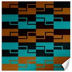 Fabric Textile Texture Gold Aqua Canvas 16  x 16