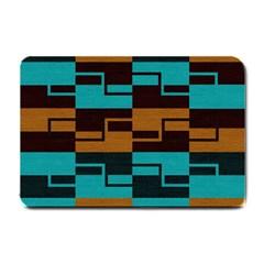 Fabric Textile Texture Gold Aqua Small Doormat