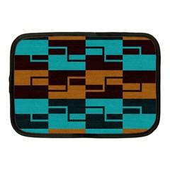 Fabric Textile Texture Gold Aqua Netbook Case (Medium)