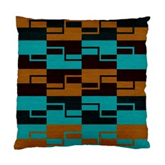 Fabric Textile Texture Gold Aqua Standard Cushion Case (One Side)