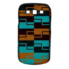 Fabric Textile Texture Gold Aqua Samsung Galaxy S Iii Classic Hardshell Case (pc+silicone)
