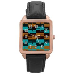 Fabric Textile Texture Gold Aqua Rose Gold Leather Watch
