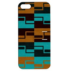 Fabric Textile Texture Gold Aqua Apple Iphone 5 Hardshell Case With Stand