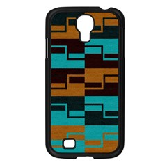 Fabric Textile Texture Gold Aqua Samsung Galaxy S4 I9500/ I9505 Case (Black)