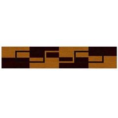 Fabric Textile Texture Gold Aqua Flano Scarf (Large)