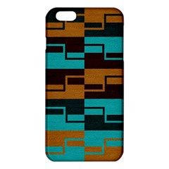 Fabric Textile Texture Gold Aqua iPhone 6 Plus/6S Plus TPU Case