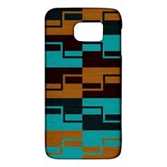 Fabric Textile Texture Gold Aqua Galaxy S6