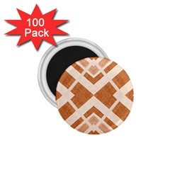 Fabric Textile Tan Beige Geometric 1.75  Magnets (100 pack)