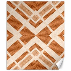 Fabric Textile Tan Beige Geometric Canvas 8  x 10