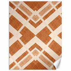 Fabric Textile Tan Beige Geometric Canvas 18  x 24