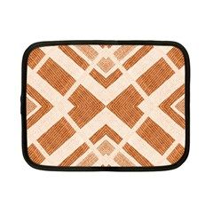 Fabric Textile Tan Beige Geometric Netbook Case (Small)