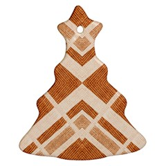 Fabric Textile Tan Beige Geometric Ornament (Christmas Tree)