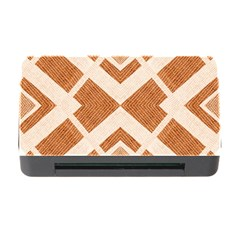 Fabric Textile Tan Beige Geometric Memory Card Reader with CF