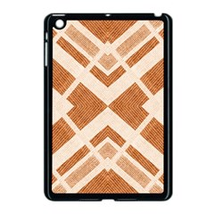 Fabric Textile Tan Beige Geometric Apple Ipad Mini Case (black)